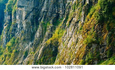 Panoramic view Norwegian Nature Mountain Rock Background