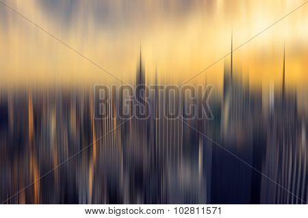 Abstract Background New York Panorama