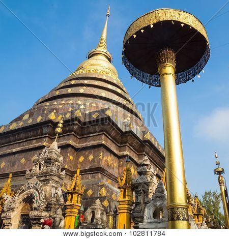 Wat Phra That Lampang Luang With Blue Sky, Lampang Province, Thailand