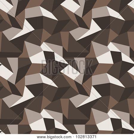 Seamless vector pattern with multi-colored quadrangles