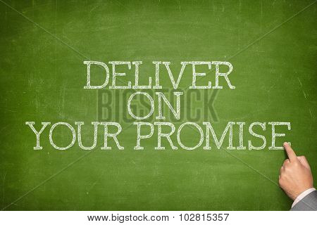 Deliver on your promise text on blackboard
