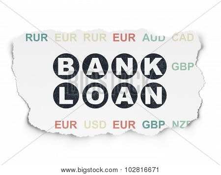 Banking concept: Bank Loan on Torn Paper background