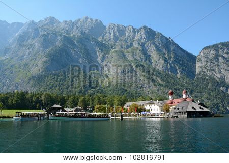St. Bartholoma Church, Mountains, Other Buldings And Ships.