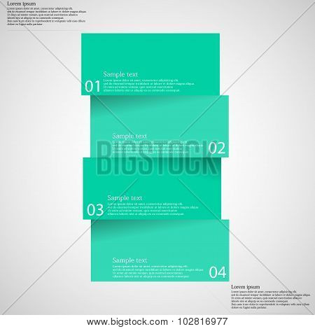 Infographic Template With Bar Divided To Four Parts On Light