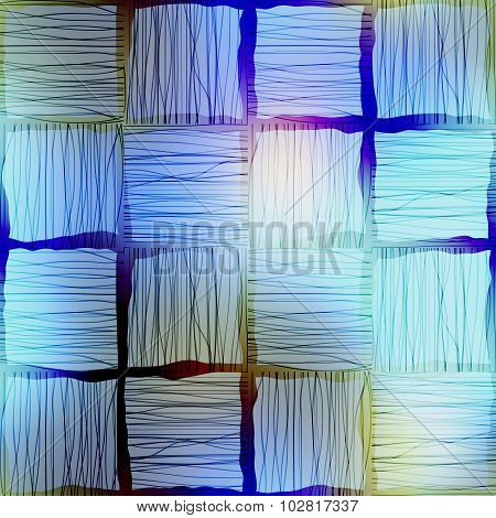 Abstract geometric background with imitation of the hatching