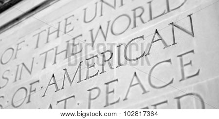 Word Carved in Stone Granite American