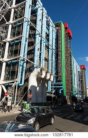 The Georges Pompidou Center, Paris, France.