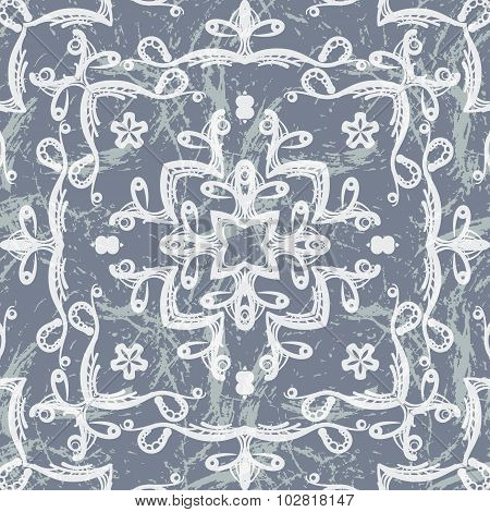 Vector seamless pattern imitating lace