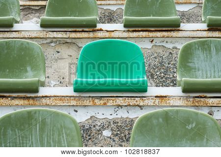 Green Seats In Old Stadium