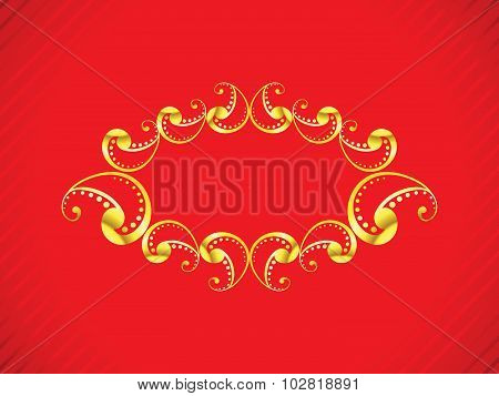 Abstract Artistic Golden Border