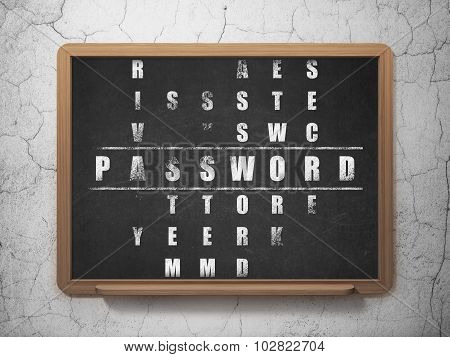Protection concept: Password in Crossword Puzzle