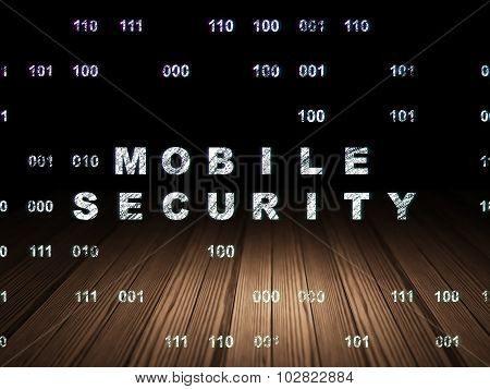 Security concept: Mobile Security in grunge dark room