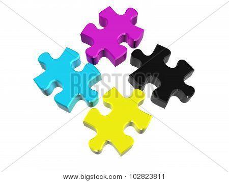 Puzzle Cmyk
