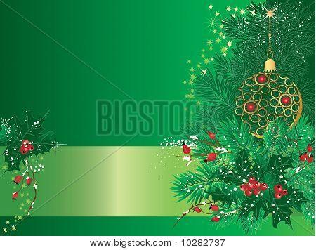 Christmas Green Card.