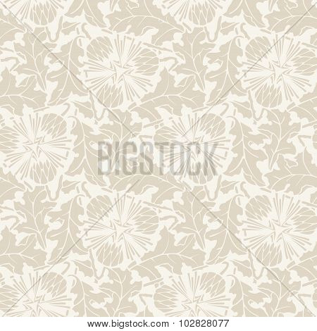 Vector Floral vintage rustic seamless pattern