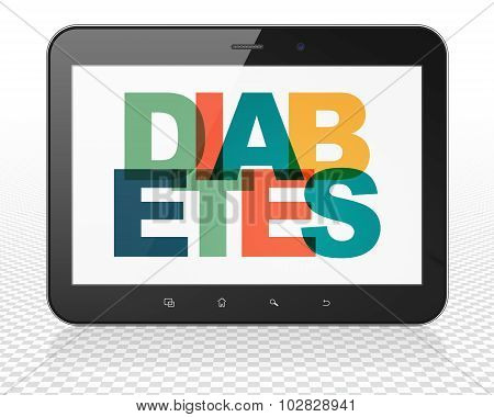 Health concept: Tablet Pc Computer with Diabetes on  display