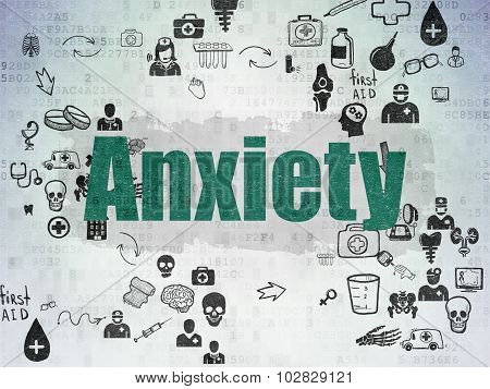 Healthcare concept: Anxiety on Digital Paper background