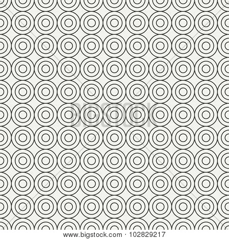 Geometric line monochrome abstract hipster seamless pattern with round, circle. Wrapping paper. Scra