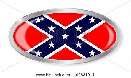 Confederate Flag Oval Button