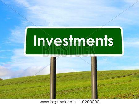 Investitionen-Zeichen