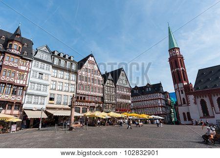Romerberg Square  In  Frankfurt, Germany