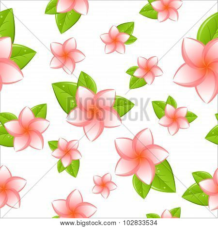 frangipani seamless