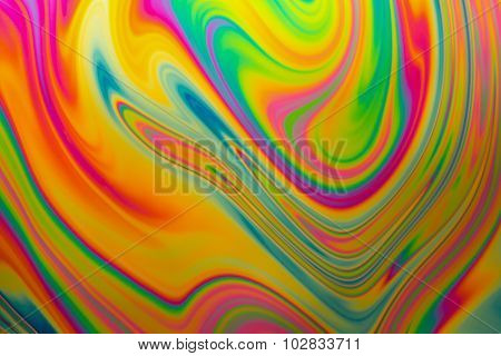 Multicolored soap bubble abstract
