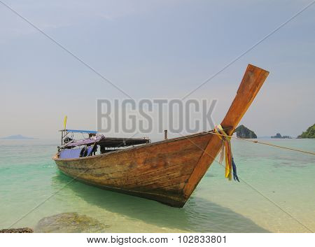 Thailand Ocean Landscape With Boat