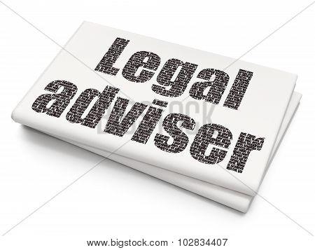 Law concept: Legal Adviser on Blank Newspaper background