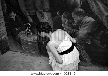 a girl and the relief