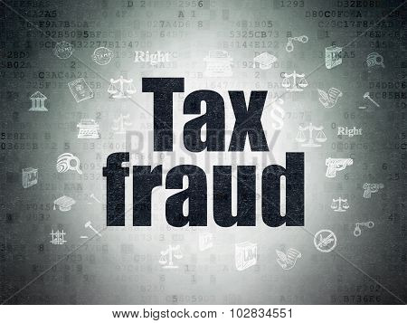 Law concept: Tax Fraud on Digital Paper background