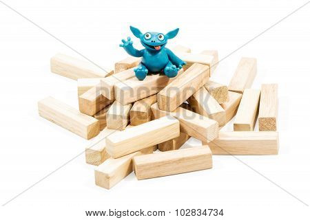 Good Blue Plasticine Monster