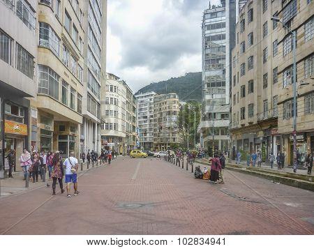 Urban Scene In Bogota Colombia