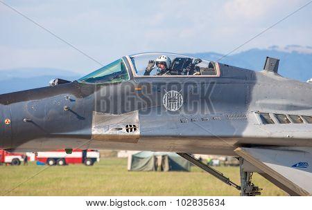 Pilot In Mig-29 Fulcrum