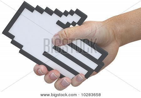 Handshake Pixel Cursor Tech Friendly User Shake Hands