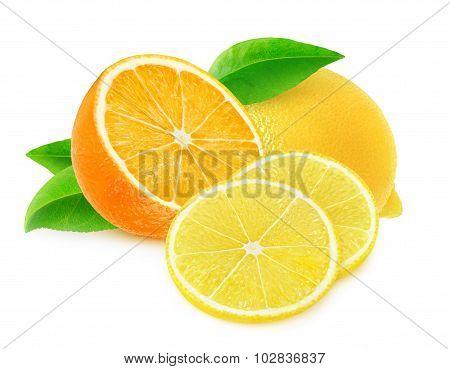 Cut Orange And Lemon