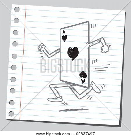 Ace card running