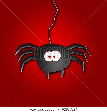 Halloween Illustration Of A Spider
