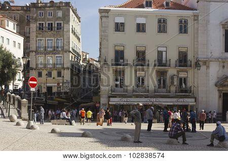 Largo De Sao Domingos Square In Lisbon