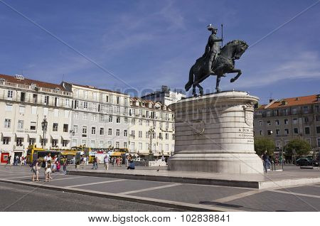 Equestrian Statue Of King John in Lisbon