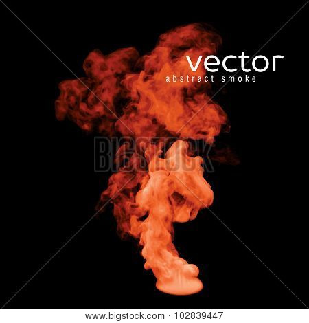 Vector Illustration Of Orange Smoke