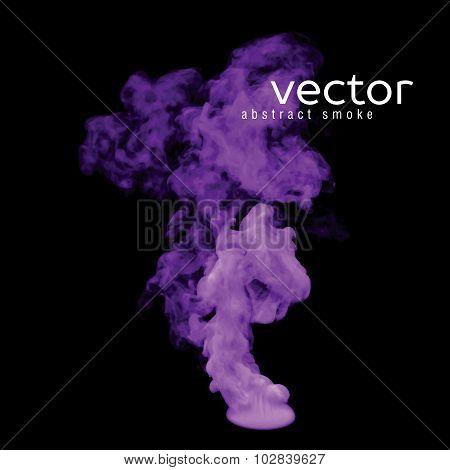 Vector Illustration Of Violet Smoke