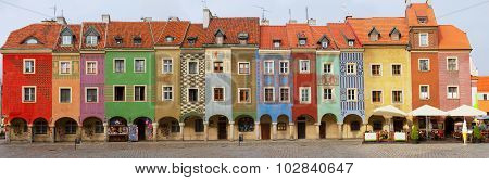 crooked medieval houses , Poznan, Poland