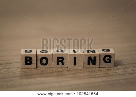 Boring In Wooden Cubes