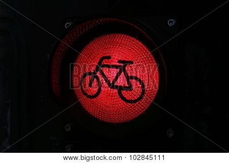 Bicycle Sign In The City