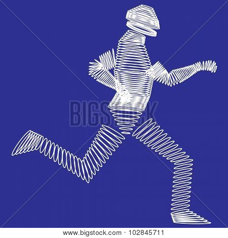 Future runner - vector illustration
