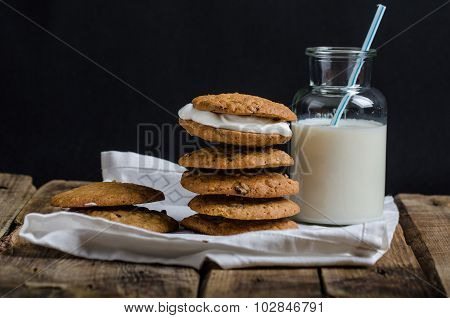 Homemade Oatmeal Cream Pie Cookies