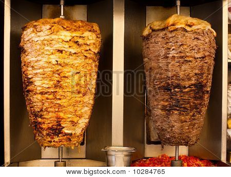 Chicken Lamb Shawerma Fast Food Meat