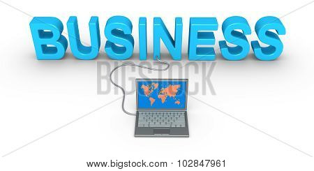 Business Word And Laptop