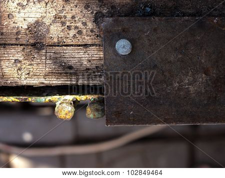 Metal and Wooden texture and background.